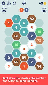 screenshot of Hexa Simple Puzzle version 1.0