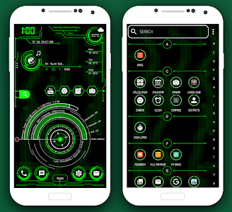 screenshot of Hi-Tech Launcher 2019 - UI of Future, Theme, Fast version 12.0