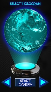 screenshot of Hologram Earth 3D Simulator version 1.5