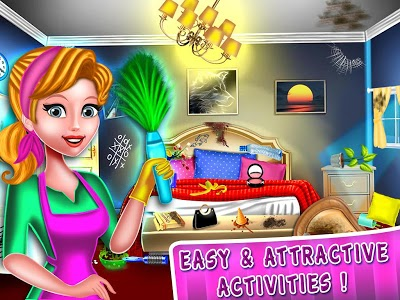 screenshot of Hotel Room Cleaning Games : Clean Up for free version 1.0