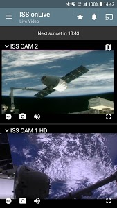 screenshot of ISS on Live: HD View Earth Live | Chromecast version 4.7.2