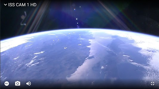 screenshot of ISS on Live: ISS Tracker and Live Earth Cams version 4.7.3