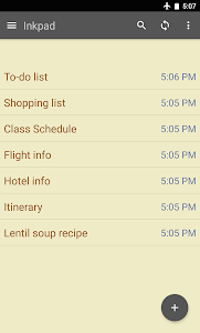 screenshot of Inkpad Notepad & To do list version Varies with device