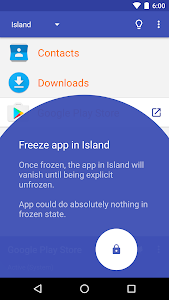screenshot of Island version Varies with device