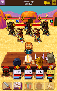 screenshot of Knights of Pen & Paper 2 version 2.5.54
