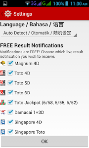 screenshot of Live 4D Results ! (MY & SG) version 6.3