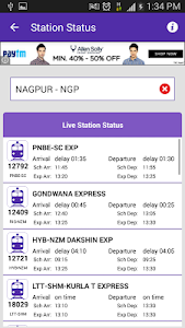 screenshot of Live Train Status version 35.0