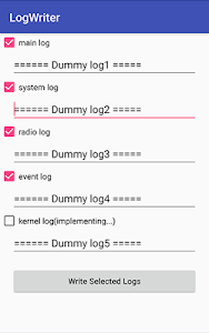 screenshot of Log Writer version 1.1.1
