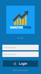 screenshot of LoginToSystem App and Marketing System version 2.0.1