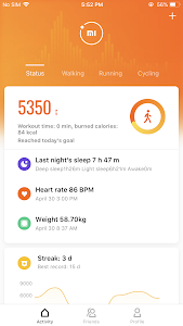 screenshot of Mi Fit version 4.0.3