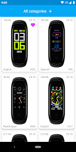 screenshot of MiBand4 - WatchFace for Xiaomi Mi Band 4 version 1.4.3