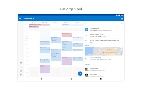 screenshot of Microsoft Outlook: Organize Your Email & Calendar version 4.1.9