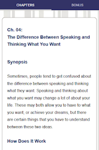 screenshot of Mind Power - Getting into the Right Mindset version 6.0