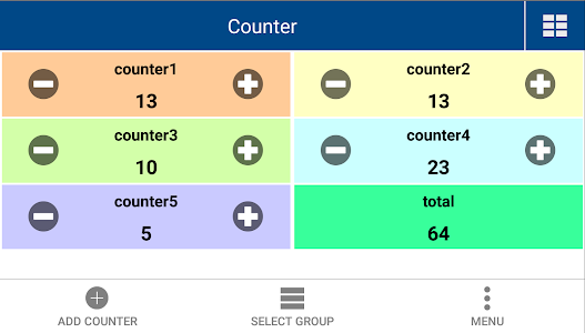 screenshot of Multi Counter (with calculator) version 1.6.1