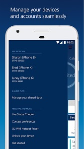 screenshot of My O2 version Varies with device