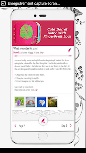 screenshot of My Personal Diary with Fingerprint Password version 2.2