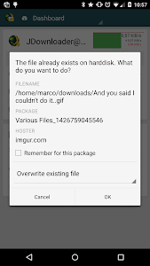 screenshot of MyJDownloader Remote Official version Varies with device