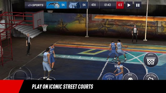 screenshot of NBA LIVE Mobile Basketball version 4.2.30