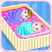 Newborn twins girls games