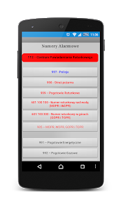 screenshot of Numery Alarmowe na Ratunek version 1.5