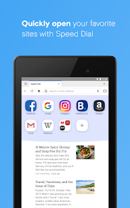 screenshot of Opera browser with free VPN version Varies with device