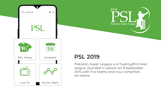 screenshot of PSL Schedule 2019 - PSL Live Streaming & Scores version 1.0