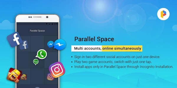 screenshot of Parallel Space - Multiple accounts & Two face version 4.0.8895