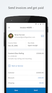 screenshot of PayPal Business: Send Invoices and Track Sales version 2019.10.02