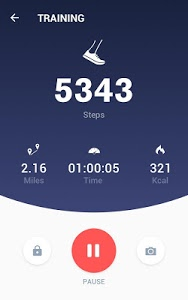 screenshot of Pedometer - Step Counter Free & Calorie Burner version 2.0.0