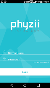 screenshot of Phyzii Mobile 2.3 version 2.3.1