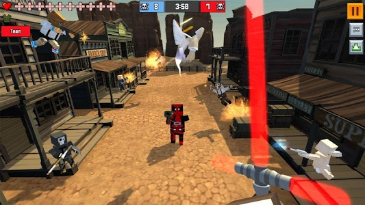 screenshot of Pixel Fury: Multiplayer in 3D version 11.0