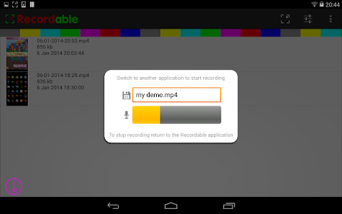 screenshot of Recordable Activator version 1.0.5