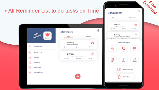 screenshot of Remind Me – Reminder Assistant to Do List Widget version 1.0