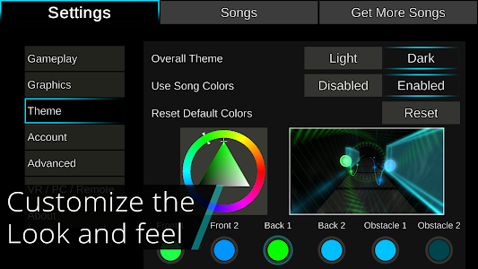 screenshot of Rhythm Taichi (with VR support) version 1.20