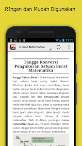 screenshot of Rumus Matematika SD Lengkap version 1.0