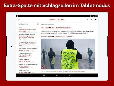 screenshot of SPIEGEL ONLINE - News version 3.2.12