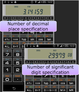 screenshot of Scientific Calculator 995 version 1.2.9