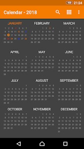 screenshot of Simple Calendar version 5.1.3