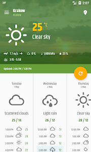 screenshot of Simple weather & clock widget (No ads) version 0.8.39