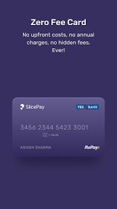 screenshot of SlicePay: Zero Fee Card, Use anywhere, pay later version 4.0.14.13