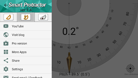 screenshot of Smart Protractor version 1.4.7