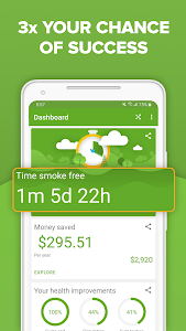 screenshot of Smoke Free: Stop Smoking with Quitting Techniques version Varies with device