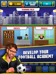 screenshot of Soccer Academy Simulator version 5.4