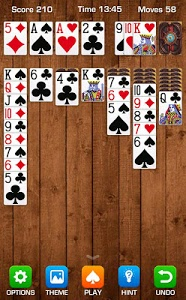 screenshot of Solitaire version 1.5.100