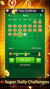 screenshot of Solitaire Collection version 2.9.500