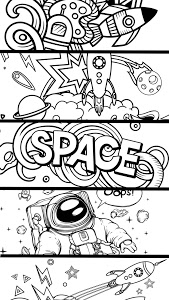 screenshot of Space Coloring Game version 2.0.2