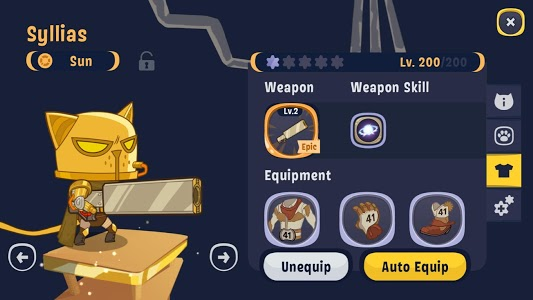 screenshot of AFK Cats: Idle RPG Arena with Epic Battle Heroes version 1.30.0