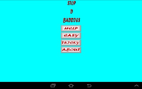 screenshot of Stop D Baddies version 1.1