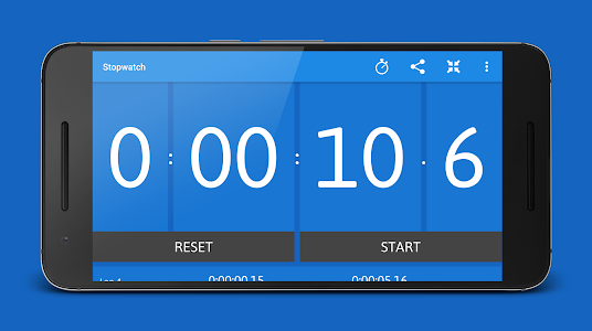 screenshot of Stopwatch and Timer version Varies with device