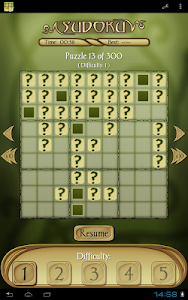 screenshot of Sudoku Free version 1.51